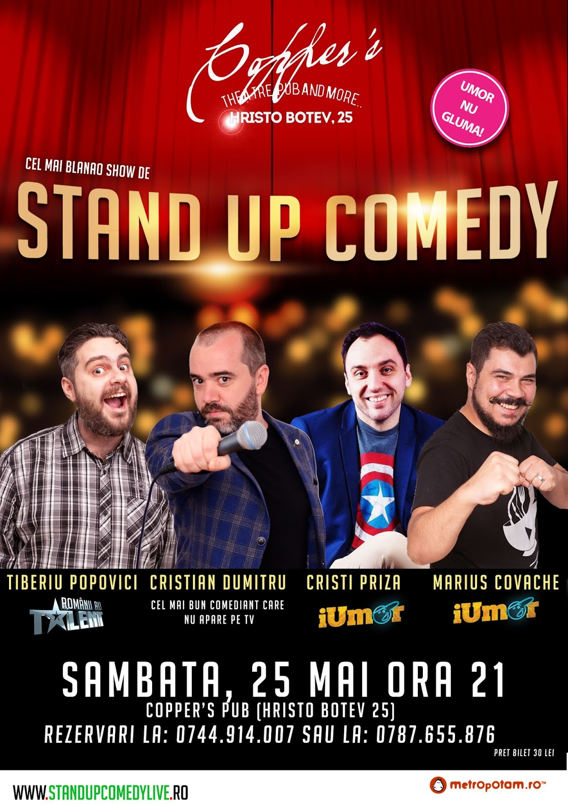Stand Up Comedy Azi in Bucuresti