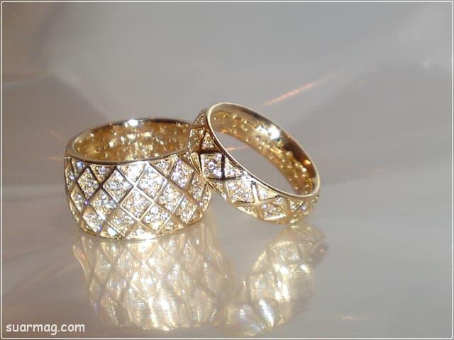اشكال محابس ذهب 3   Gold Engagement Rings Forms 3