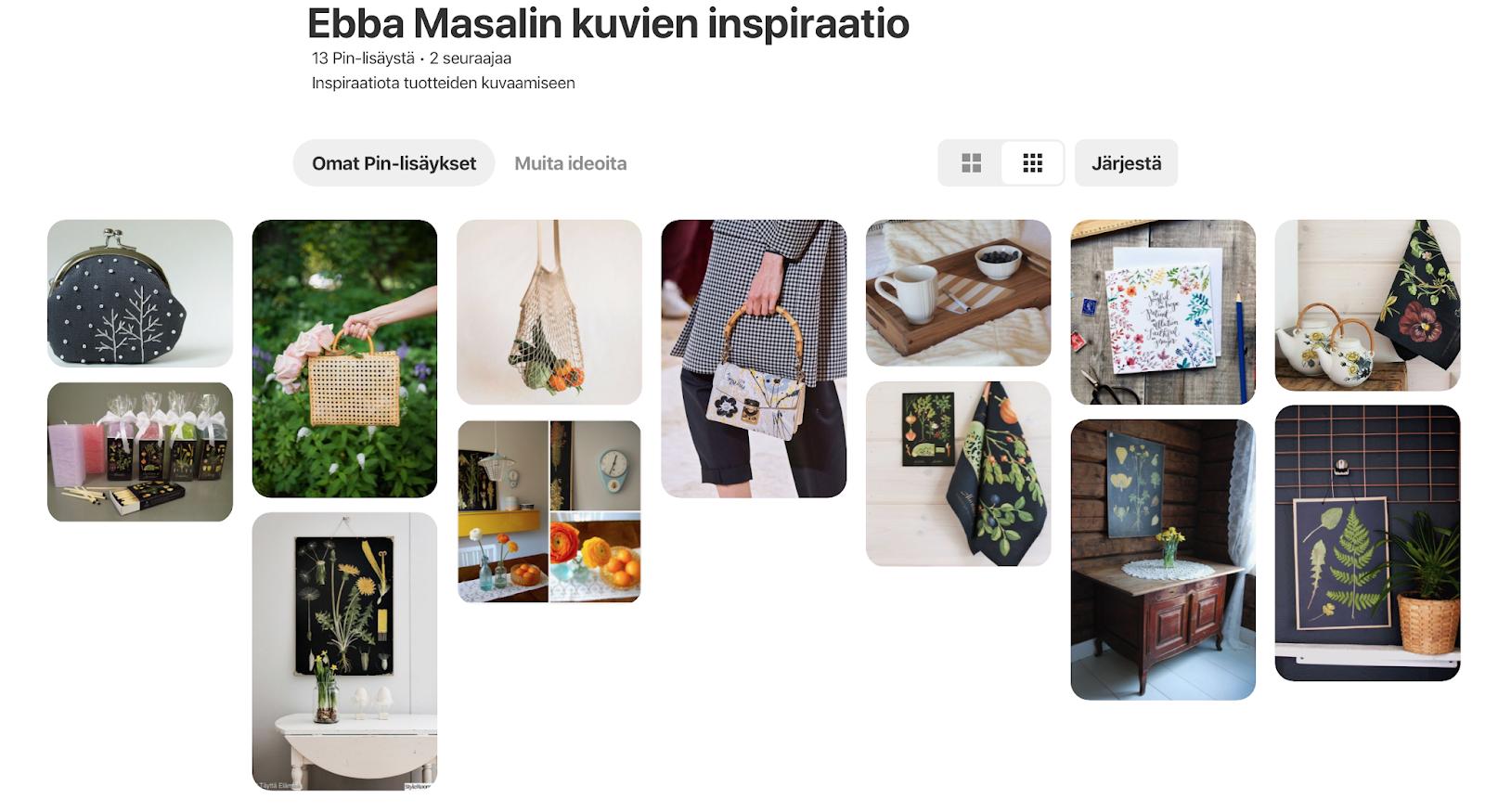 ebba masalin pinterest taulu inspiraatio