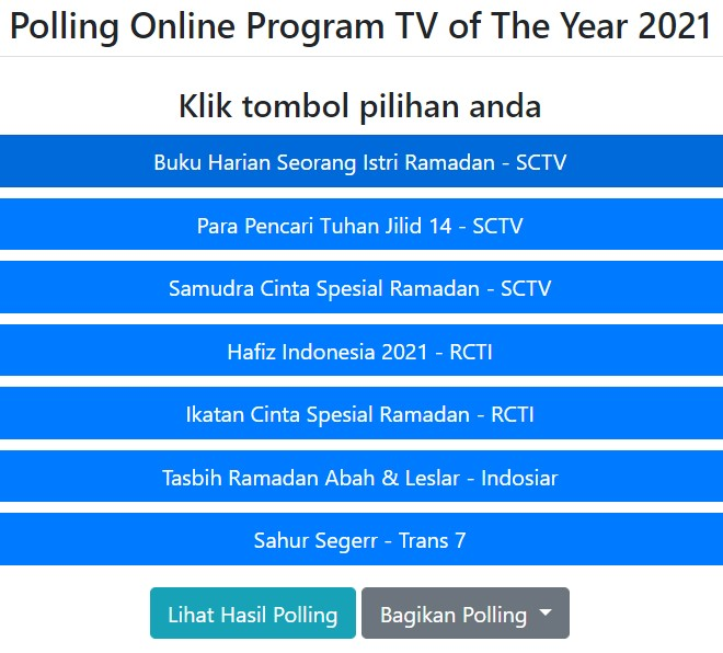 Polling Online Program TV of The Year 2021