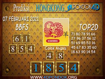 Prediksi Togel HONGKONG PONDOK4D 07 FEBRUARI 2021