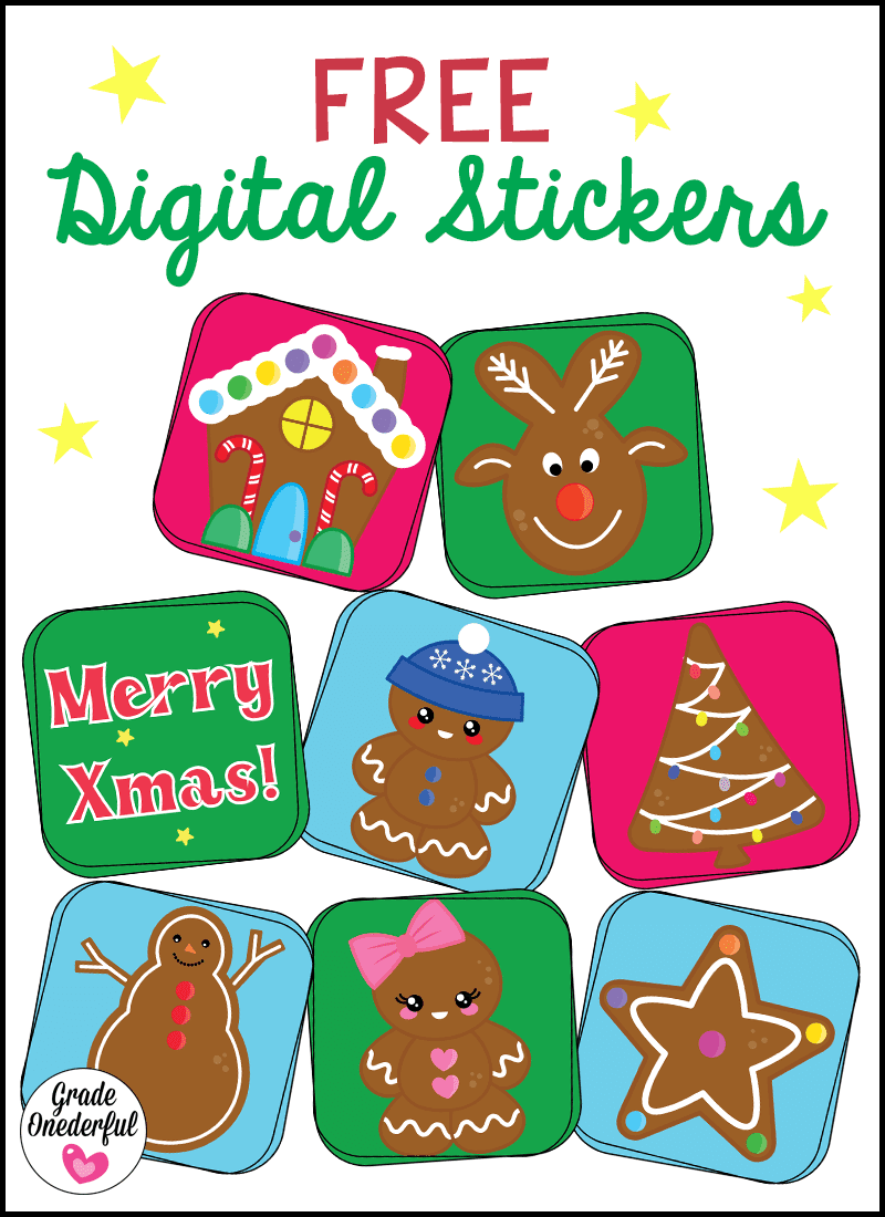 8 FREE DIGITAL CHRISTMAS STICKERS