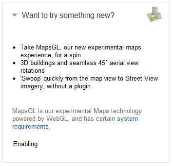 Google Maps in WebGL