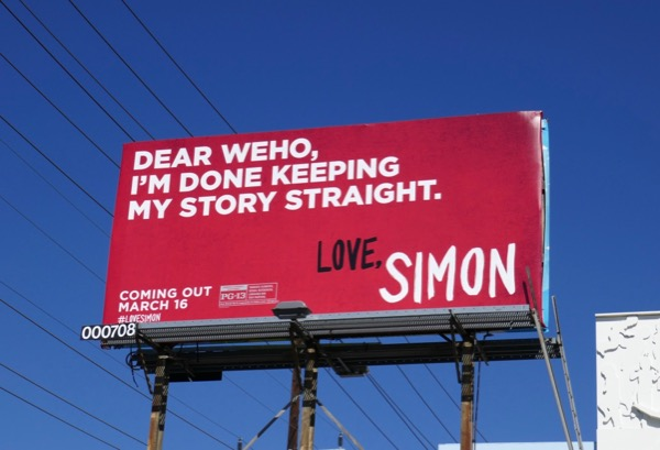 Dear WEHO Love Simon billboard