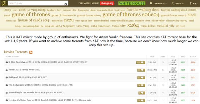 واخيرا موقع Kickass Torrents يعود للعمل من جديد !