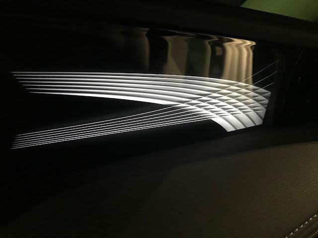 Glass dashboard detail in 2020 Lexus LS 500