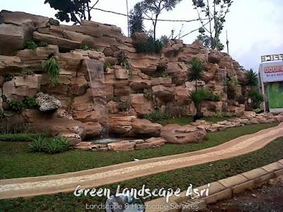 Jasa Pembuatan Relief Kolam Tebing Purworejo | Tukang Dekorasi Relief Air Terjun