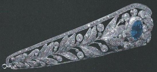 sapphire tiara luxembourg grand duchess marie adelaide