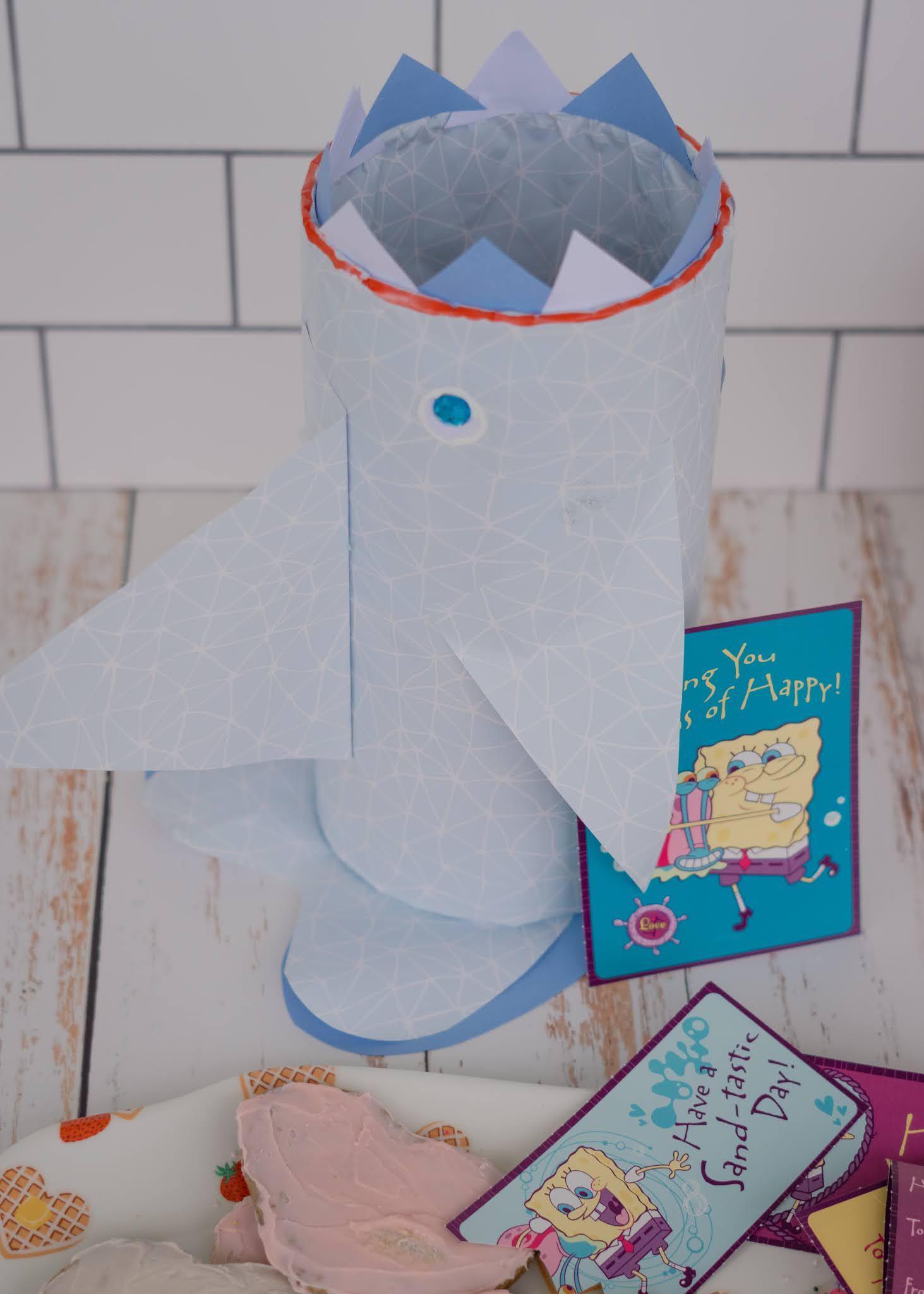 How to make a DIY shark Valentine mailbox