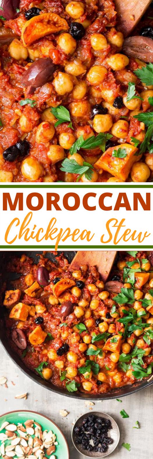Moroccan chickpea stew #vegetarian #recipes #vegan #dinner #stew
