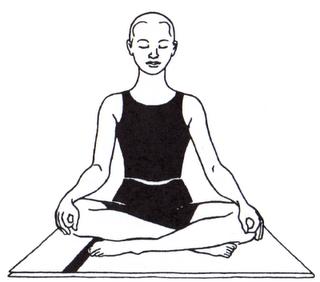 Sukhasana or Easy Pose