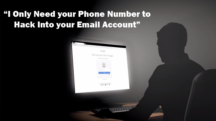 This Simple Trick Requires Only Your Phone Number to Hack your Email Account