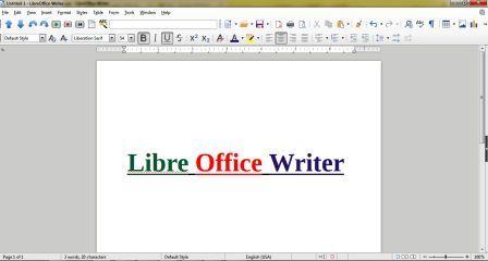 CCC Libre Office Writer Notes / लिब्रा आफिस राइटर