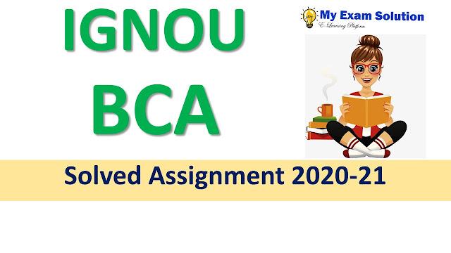 IGNOU BCA Solved Assignment 2020-21