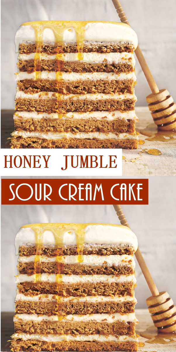 HONEY JUMBLE SOUR CREAM CAKE #Cakerecipes