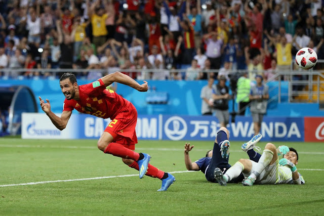 Goal! Chadli wins it for the Red devils | Belgium 3-2 Japan (Video)