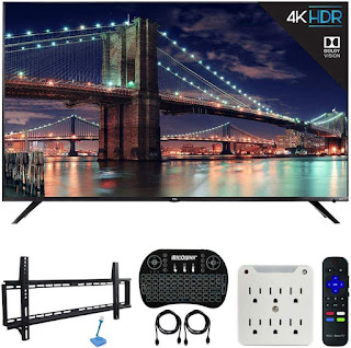 TCL 55R617 55-inch Class 6-Series 4K HDR Roku Smart TV