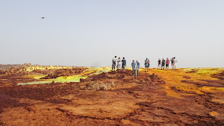 Landscape of one of several hot springs in the Danakil Depression