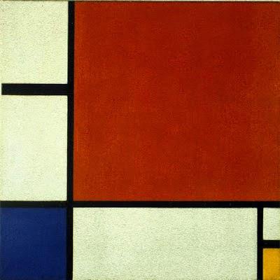 Composição II em vermelho, Azul e Amarelo - Piet Mondrian e Suas Pinturas | Criador do Neoplasticismo