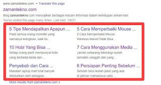 5 Tips Mendapatkan Sitelink Otomatis Dari Google Tanpa Pengajuan