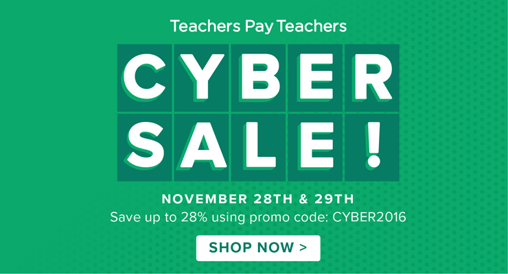 Cyber sale for tpt resources