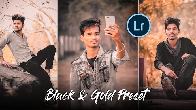 Lightroom Black & Gold Effect || Lightroom Mobile Preset || AC EDITION 🔥