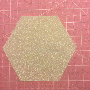 Skjær til en hexagon/sekskant med like lange sider.