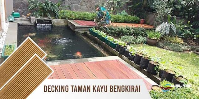 decking merbau taman