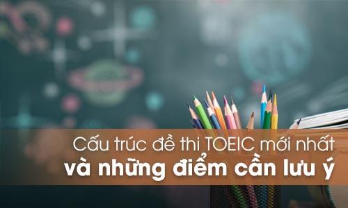 Cấu trúc đề thi TOEIC mới nhất