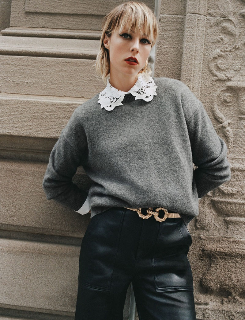 Edie Campbell stars in Zara Keep It Uptown fall-winter 2019 editorial