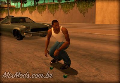 mod andar de skate para gta sa skateboard