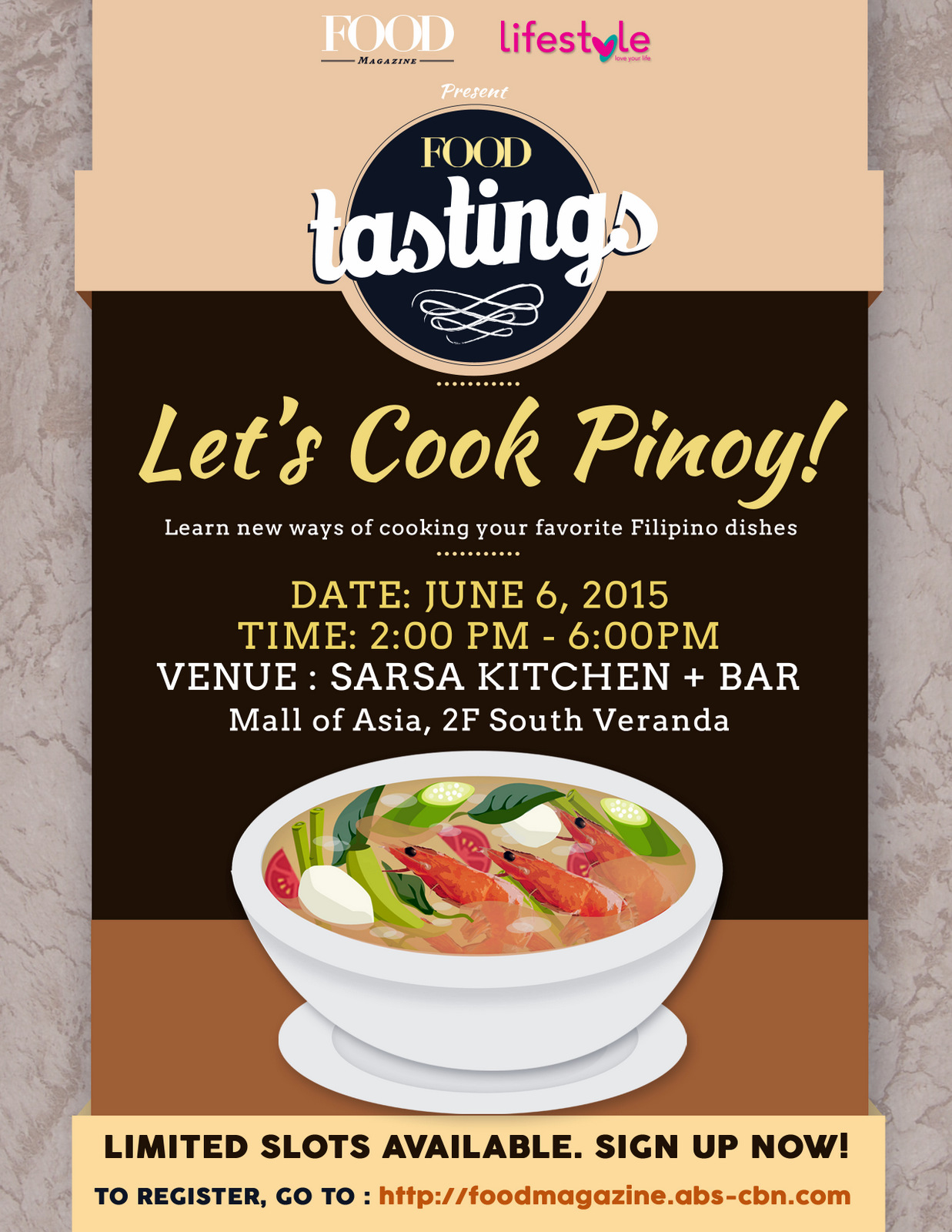 Food Tastings: Let's Cook Pinoy Cooking Class by Food Magazine
