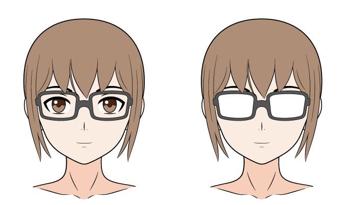 Kacamata anime refleksi