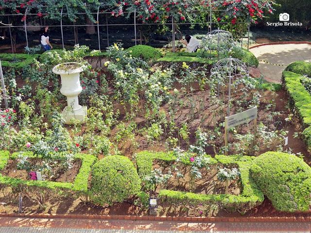 Vista do Jardim das Roseiras na Casa das Rosas - Bela Vista - São Paulo