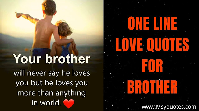 One Line Love Quotes For Brother Saying Images Picture