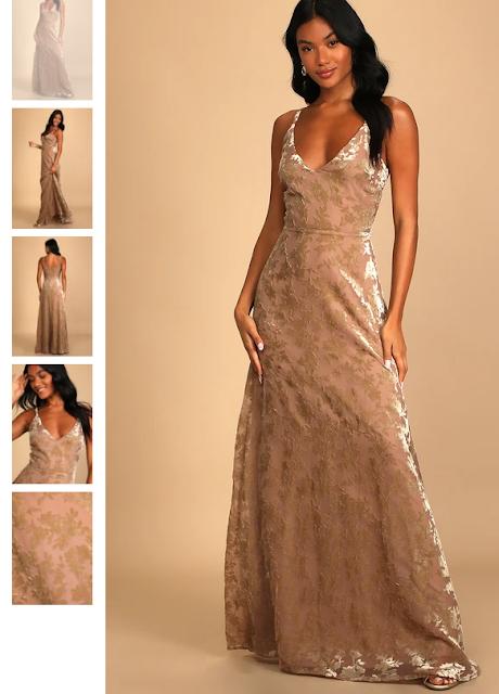Lulus Velvet Maxi Dress
