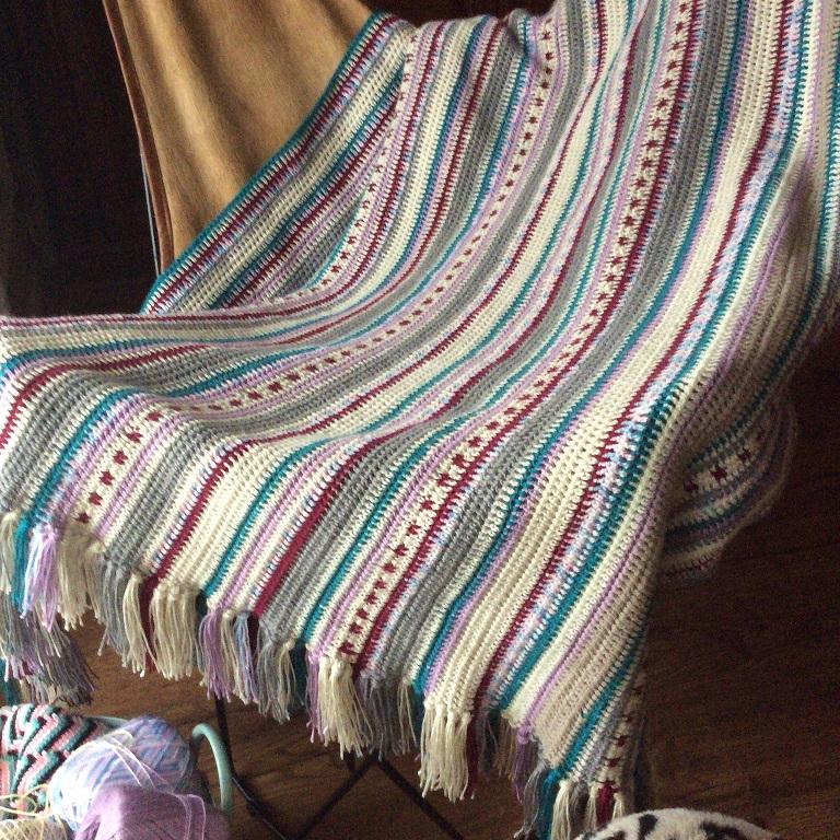 Lujoso Patrón De Crochet Raya Inspiración - Manta de Tejer Patrón de ...