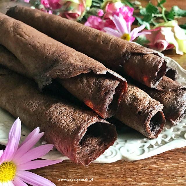 Keto naleśniki kakaowe
