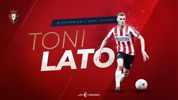 Oficial: Osasuna, llega cedido Toni Lato
