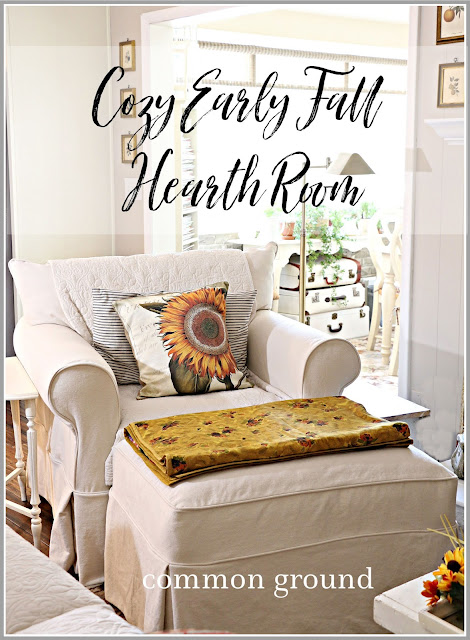 Cozy Early Fall Hearth Room Decor