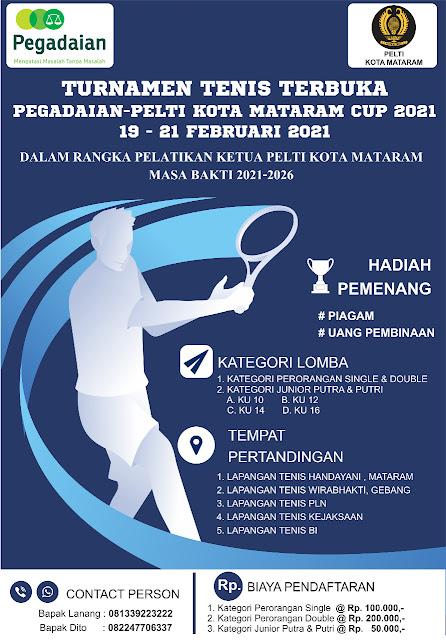 Kejuaraan Tenis Pegadaian-Pengkot PELTI Kota Mataram Cup 2021