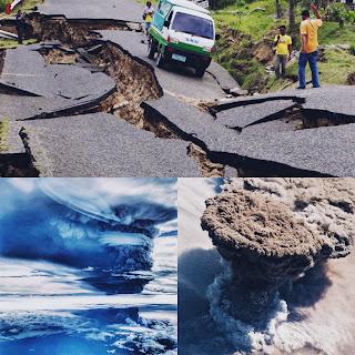 INTENSA ACTIVIDAD: Volcanes en erupción y fuertes sismos.