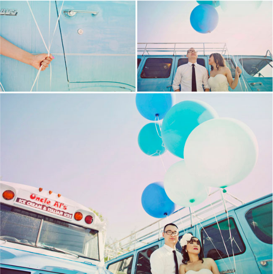blue wedding balloons