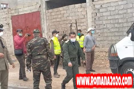 عناصر السلطة إلى محاصرة زقاق في مدينة آسفي بسبب فيروس كورونا المستجد covid-19 corona virus كوفيد-19