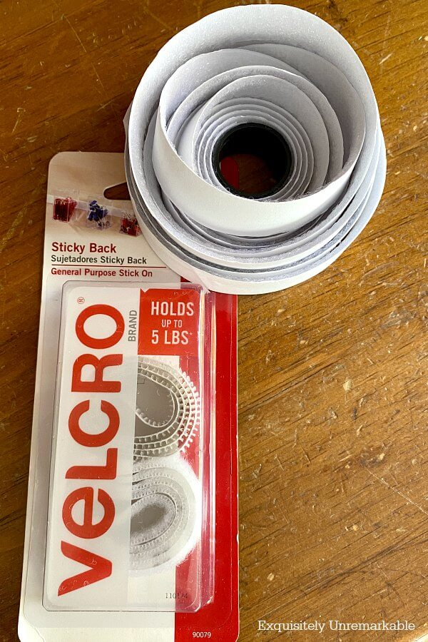 Velcro Package and roll of velcro tape
