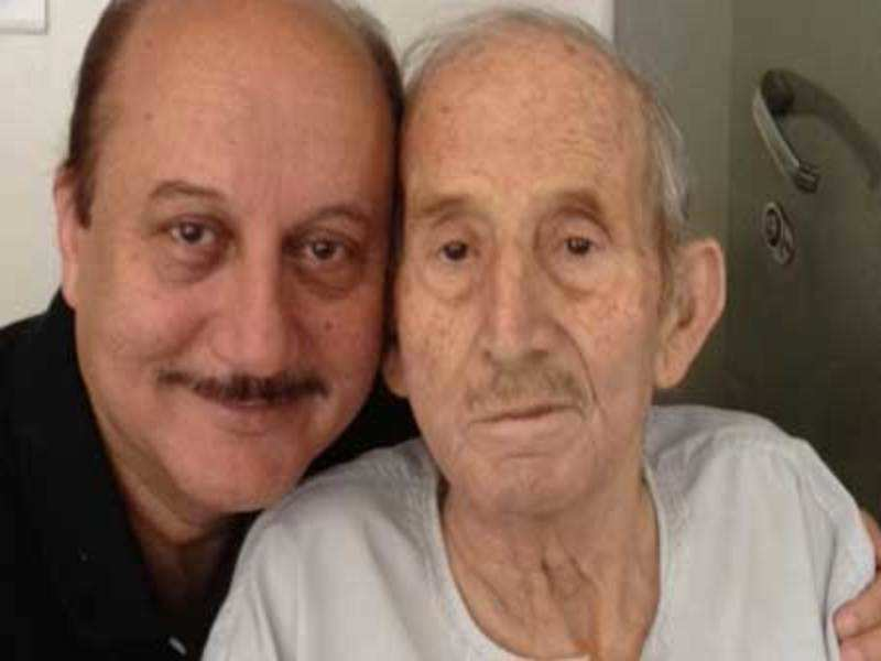 anupam kher and father