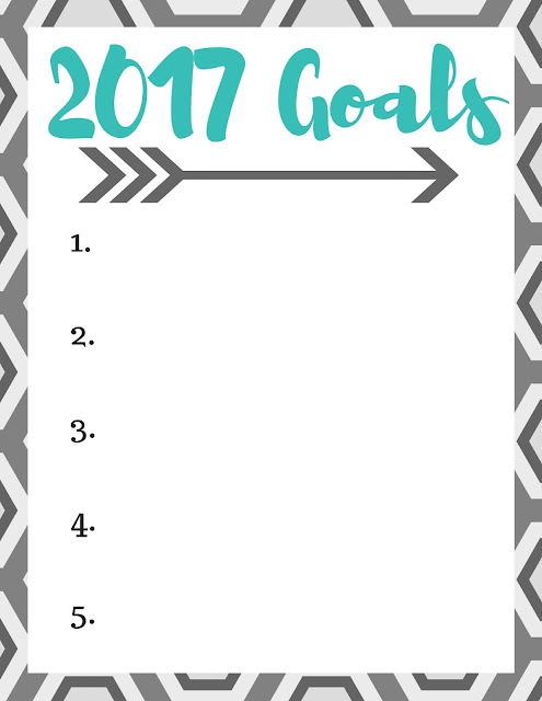 Setting Goals for 2017 plus a free printable to track your own goals!
