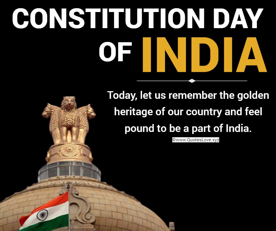 Constitution Day Of INDIA Quotes, Sayings, Wishes, Greetings, Images, Pictures, Poster