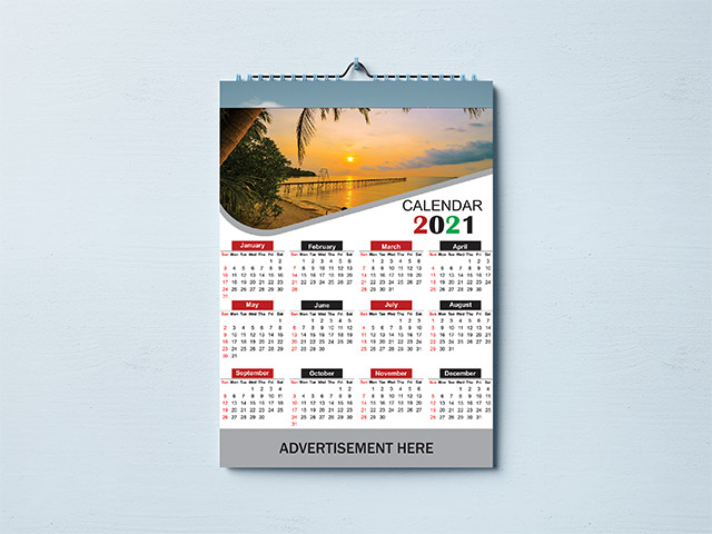 Calendar Design 2021   Free Vector Image, PSD and Cdr file ...