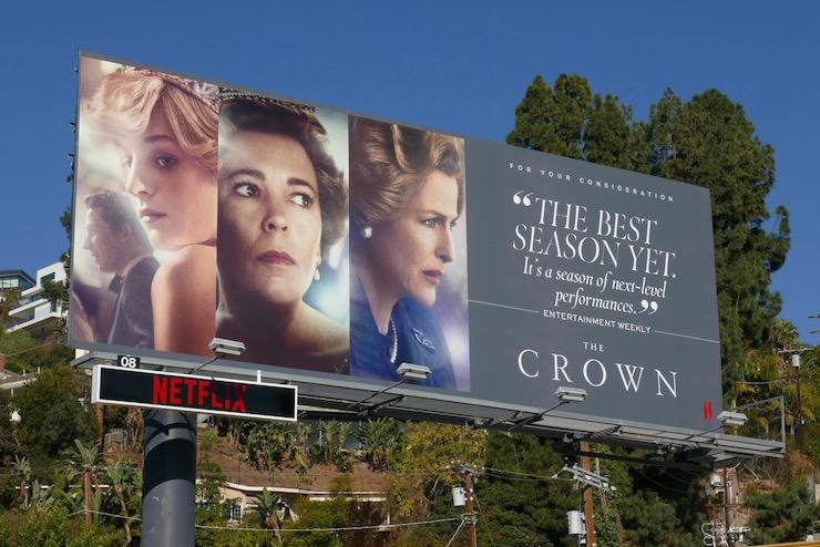 The Crown season 4 FYC billboard